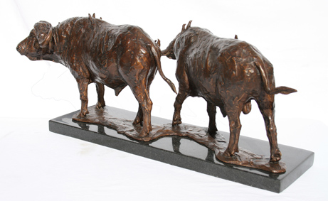 buffalo bronze african fineart